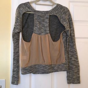 Sparkle and Fade Open Back sweater